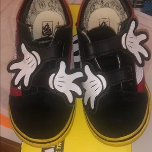 Limited Mickey vans size 10c